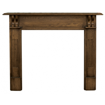 Carron The Earlswood Fine Wood Fireplace Surround - Distressed Solid Oak