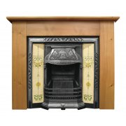 The Laurel Cast Iron Fireplace Insert