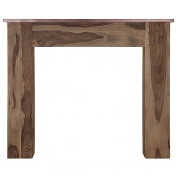 Carron The New England Wooden Fireplace Surround With Copper Cloak Shelf