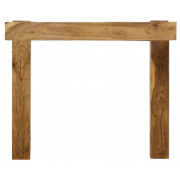 The New York Fine Wood Fireplace Surround - Distressed Solid Acacia