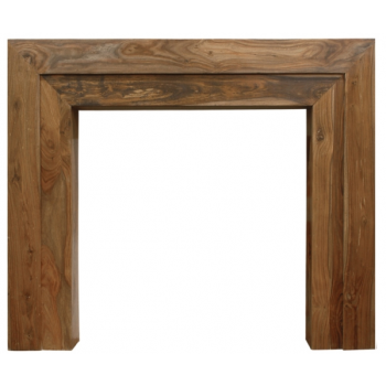Carron The Vermont Fine Wood Fireplace Surround - Natural Solid Sheesham