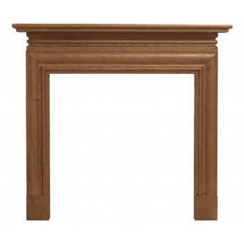 Carron The Wessex Fine Wood Fireplace Surround with Wide Opening - Oak