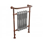 Wilsford Steel Towel Rail Copper Finish