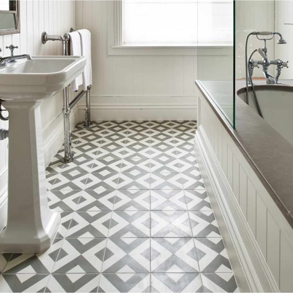 Capietra cement encaustic modern harlequin pattern tile dailygadgetfo Image collections