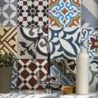 Cement Encaustic Patchwork Multicolour Pattern Tile