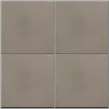 Ca'Pietra Cement Encaustic Plain Field Tile - Soft Grey