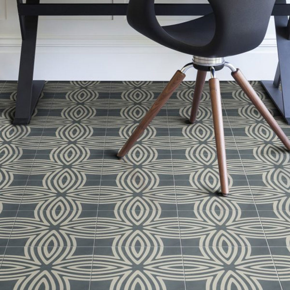 Capietra cement encaustic wired pattern tile flooring from capietra cement encaustic wired pattern tile flooring from period property store uk dailygadgetfo Gallery