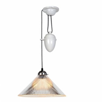 Original BTC Coolie Prismatic Rise and Fall Pendant Light
