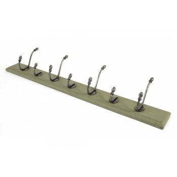 From the Anvil Country Hat & Coat Rack - Natural Smooth & Olive Green