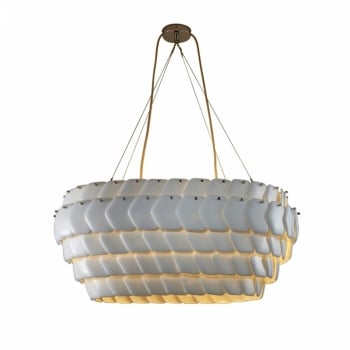 Original BTC Cranton Oval Pendant - Sand and Taupe Braided Cable