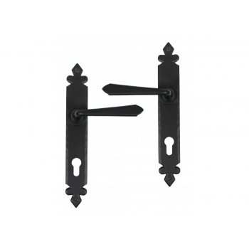 From the Anvil Cromwell Lever Espag. Lock Set - Black