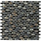 Dahli Black Brick Mosaic Tiles