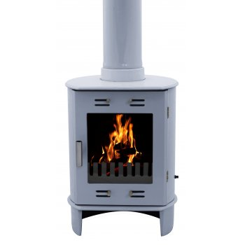 Carron Dante 5KW Solid Fuel Stove - China Blue Enamel