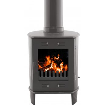 Carron Dante 5KW Solid Fuel Stove - Pebble Enamel