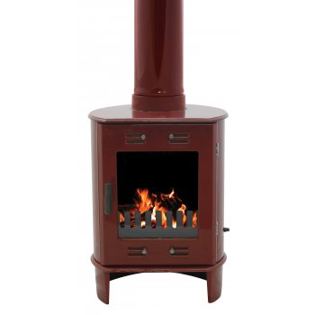 Carron Dante 5KW Solid Fuel Stove - Red Enamel
