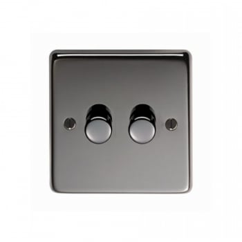 From the Anvil Double 400W Dimmer Switch - Black Nickel