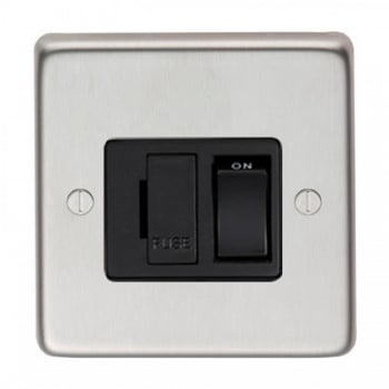 From the Anvil 13amp Fused Switch - Satin Stainless Steel