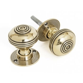 From the Anvil Aged Brass Prestbury Mortice/Rim Knob Set