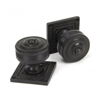 From the Anvil Aged Bronze Tewkesbury Square Mortice/Rim Knob Set