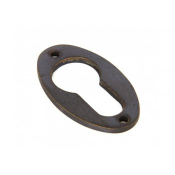 From the Anvil Antique Brass Oval Euro Escutcheon