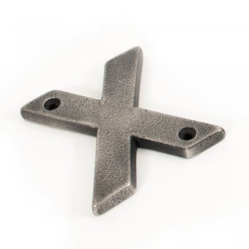 From the Anvil Antique Pewter Letter X