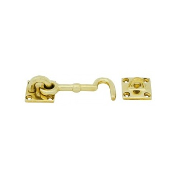 From the Anvil Cabin Hook - Polished Brass