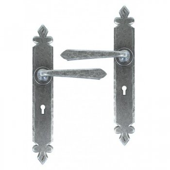 From the Anvil Cromwell Sprung Lever Lock, Latch and Bathroom Sets - Pewter Patina