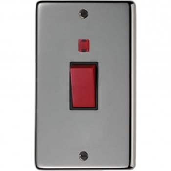 From the Anvil Double Plate Cooker Switch - Black Nickel