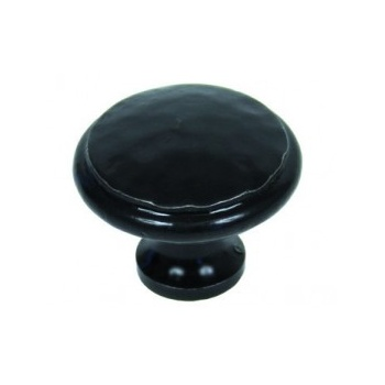From the Anvil Handmade Beaten Cupboard Knob - Black