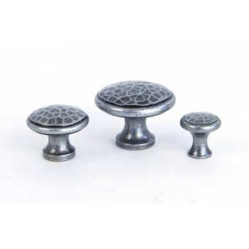 From the Anvil Handmade Beaten Cupboard Knob - Pewter Patina