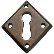 Handmade Diamond Escutcheon - Bronze