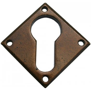 From the Anvil Handmade Diamond Euro Escutcheon - Bronze