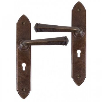 From the Anvil Handmade Gothic Sprung Lever Lock and Latch Sets - Bronze
