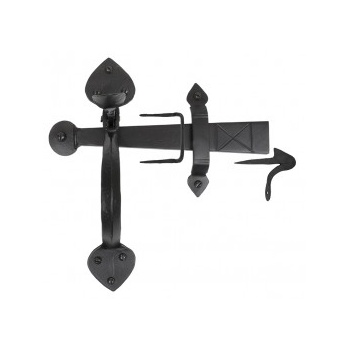 From the Anvil Handmade Gothic Thumblatch - Black