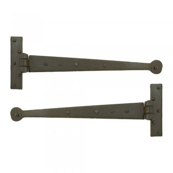 From the Anvil Handmade Penny End T Hinge (pair) - Beeswax