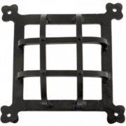 Handmade Raised Door Grill - Black