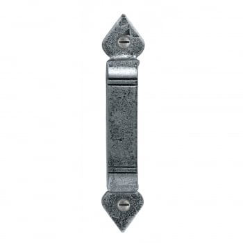 From the Anvil Handmade Screw on Staple Gothic End - Pewter Patina