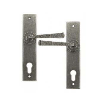 From the Anvil Handmade Unsprung Avon Espag. Lock Set 92mm Centres - Pewter Patina