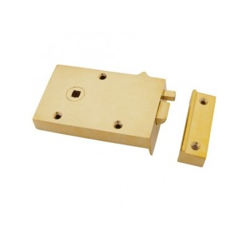 From the Anvil Left Hand Bathroom Latch - Polished Brass