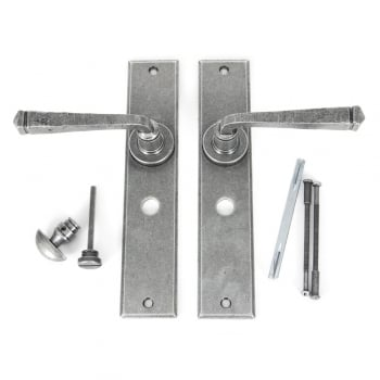 From the Anvil Pewter Avon Large Bathroom, Latch, Lock & Euro Lock Sets