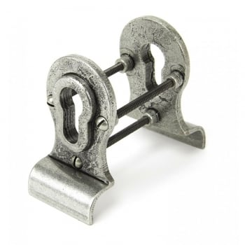 From the Anvil Pewter Euro Door Pull - Back-to-back Fixing