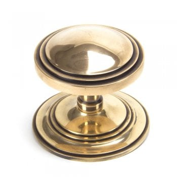 From the Anvil Polished Bronze Art Deco Centre Door Knob