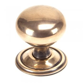 From the Anvil Polished Bronze Mushroom Cabinet Knob