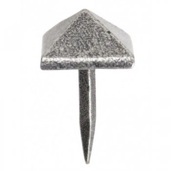 From the Anvil Pyramid Door Stud - Pewter Patina