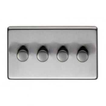 From the Anvil Quad 400W Dimmer Switch - Satin Stainless Steel