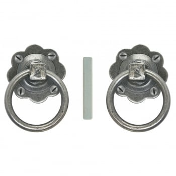 From the Anvil Ring Turn Handle Set - Pewter Patina
