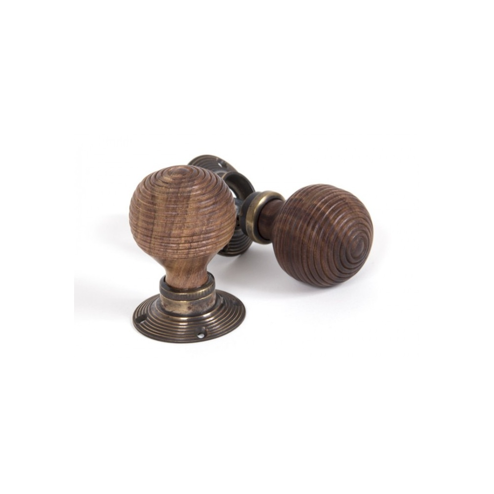 From The Anvil Rosewood Mortice/Rim Beehive Knob Set