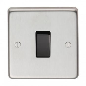 From the Anvil Single 10amp Switch - Satin Stainless Steel