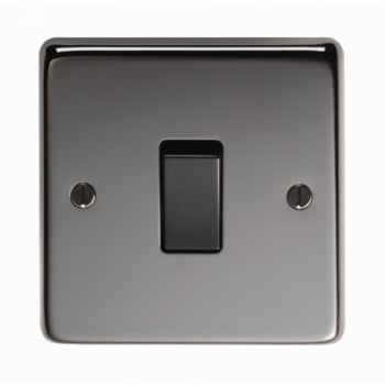 From the Anvil Single 20amp Switch - Black Nickel