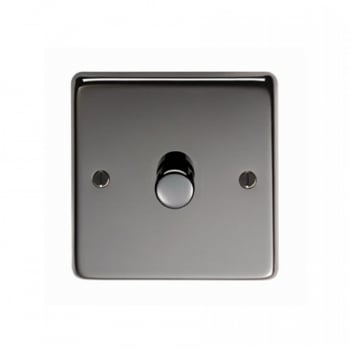 From the Anvil Single 800W Dimmer Switch - Black Nickel